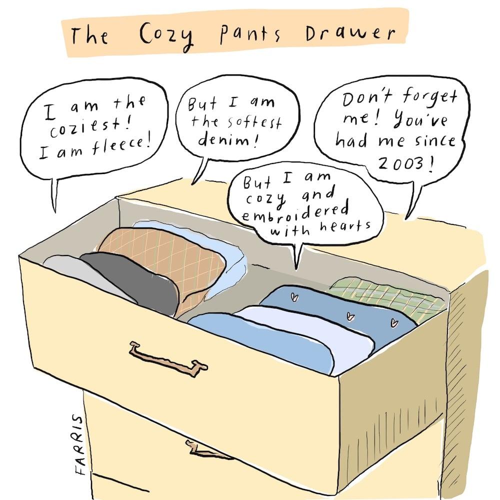 Cozy pants comic