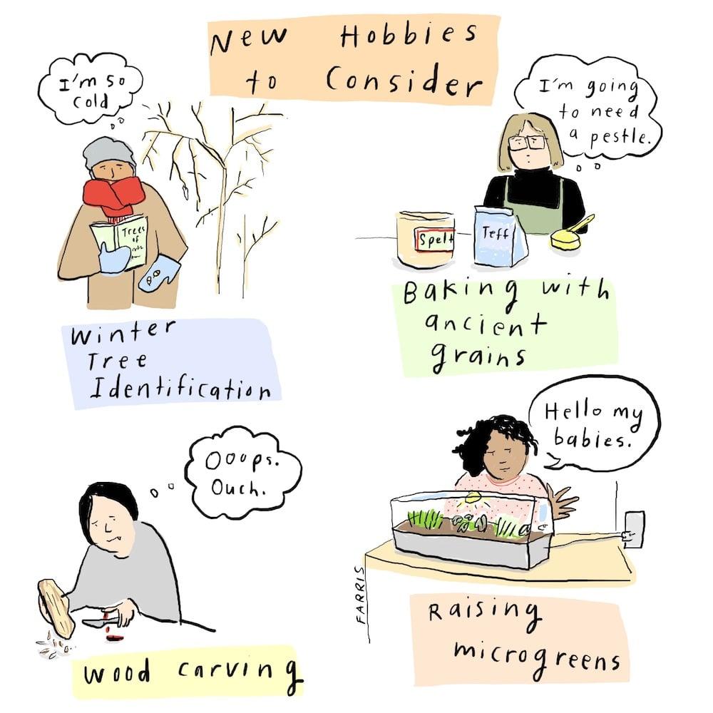 hobbies comic by Grace Farris