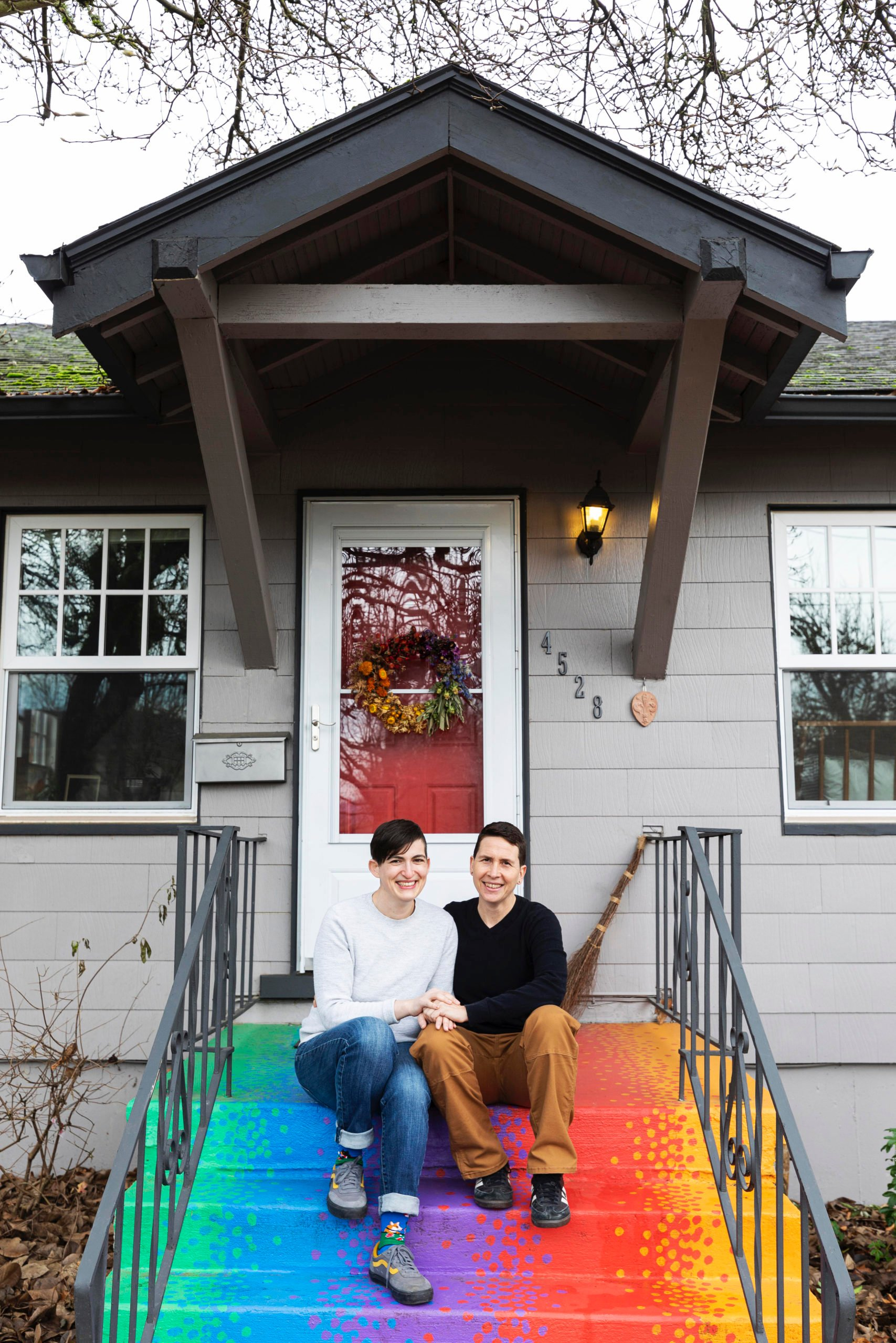 Colorful house tour in Portland Oregon