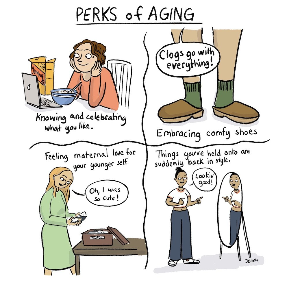 Aging comic by Jessica Olien