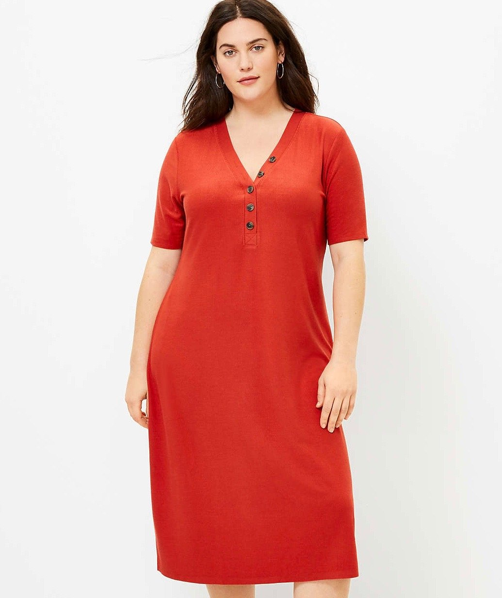 loft henley dress