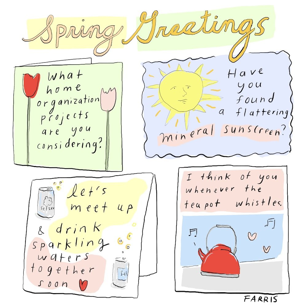 Grace Farris comic about spring