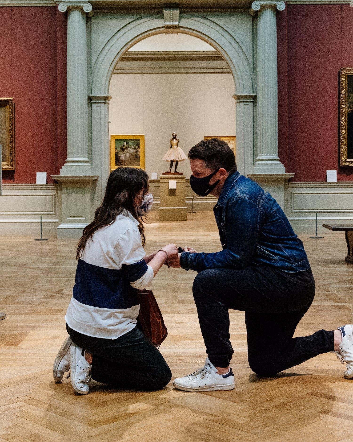 metropolitan museum marriage proposal John Januzzi Alex