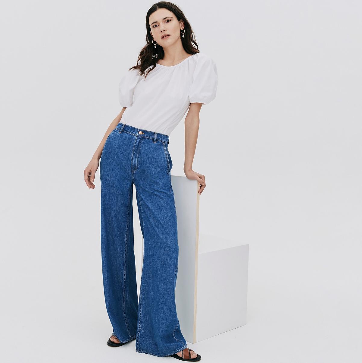 crew wide leg jeans