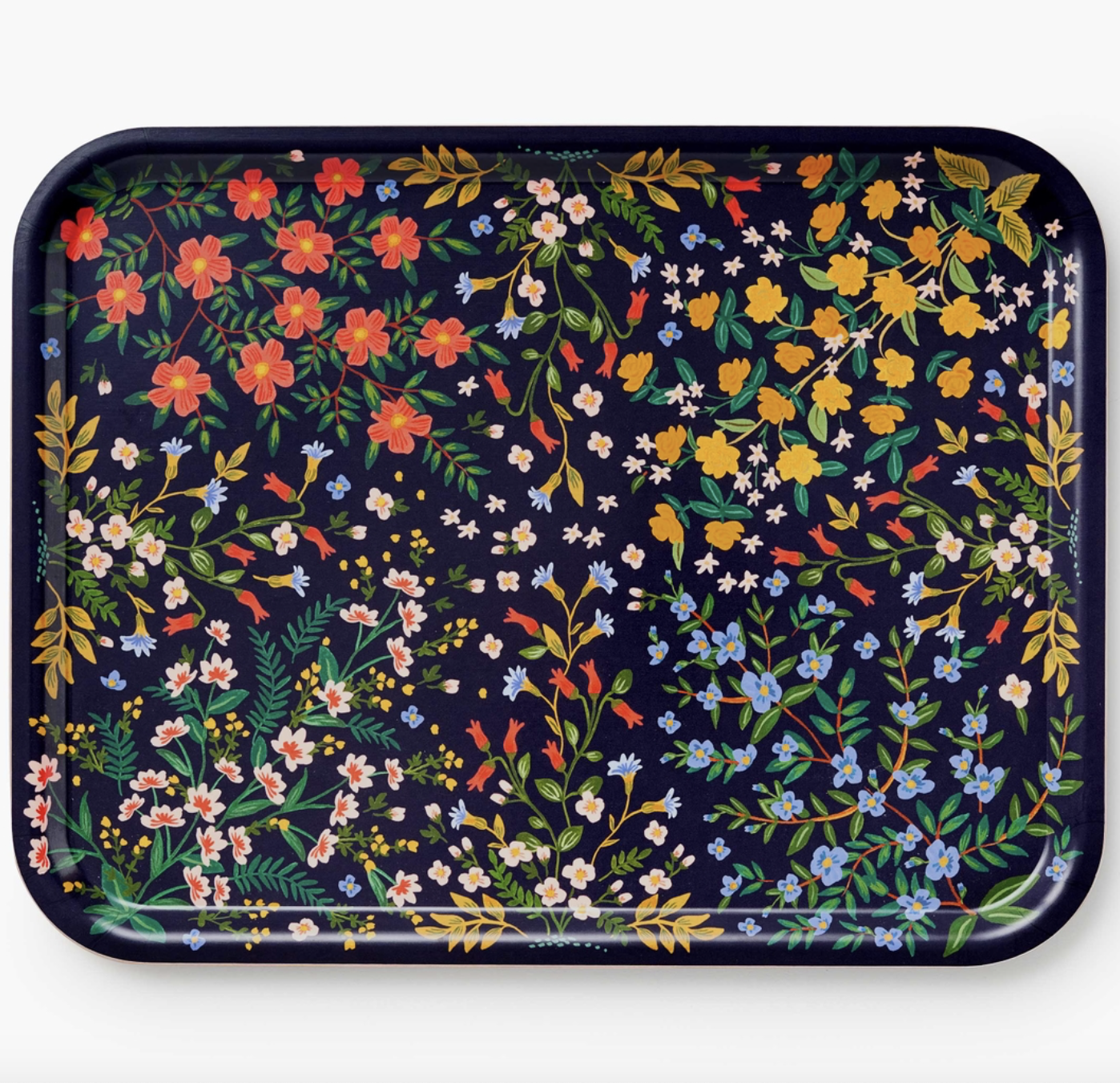 rifle paper floral serving tray