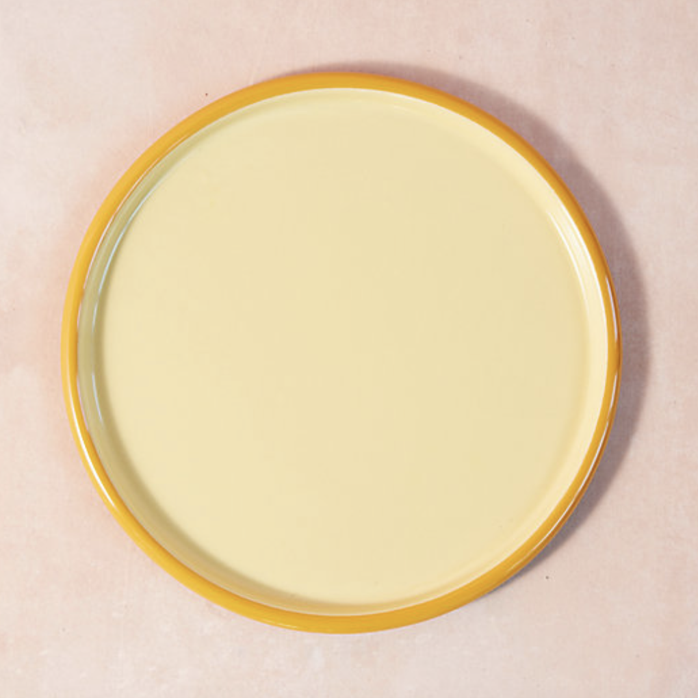 Terrain yellow serving tray
