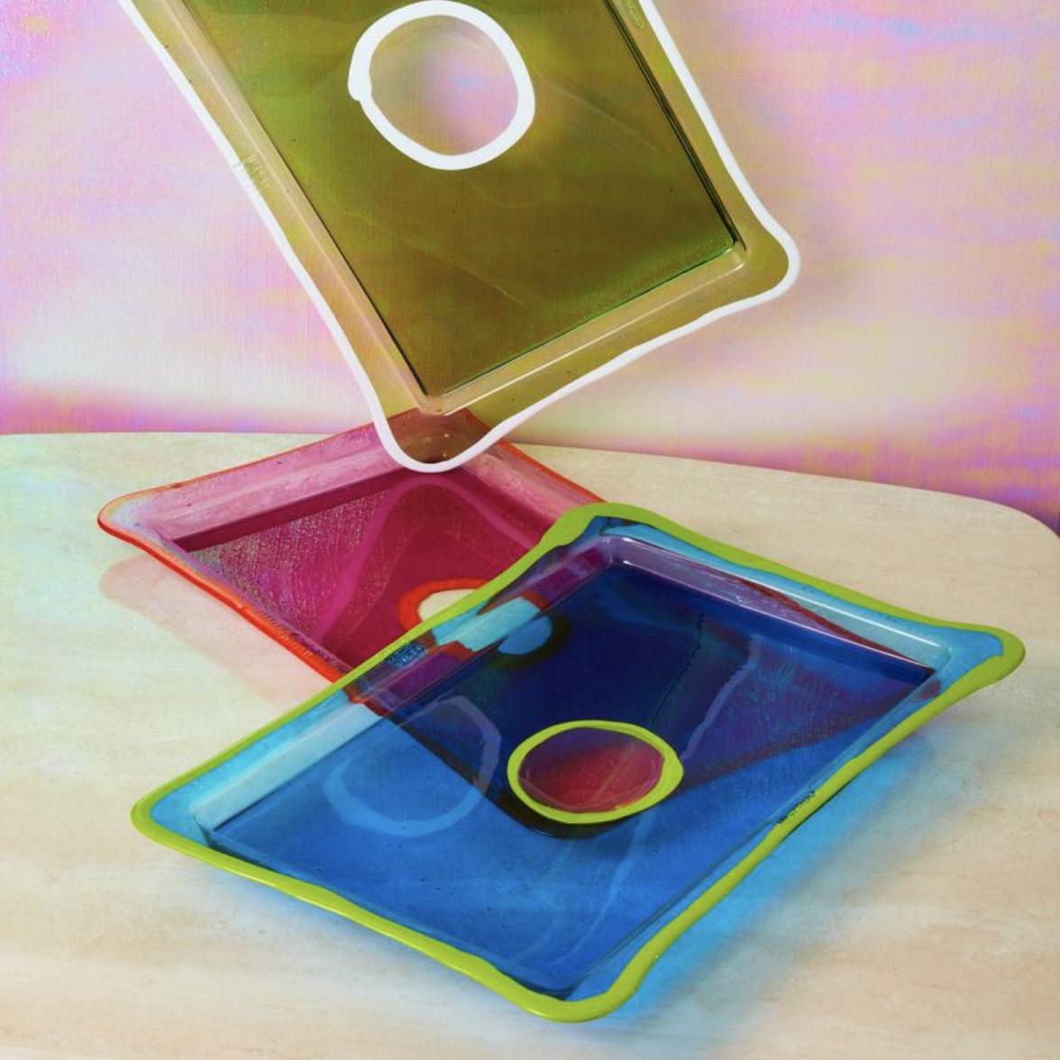 coming soon resin serving tray