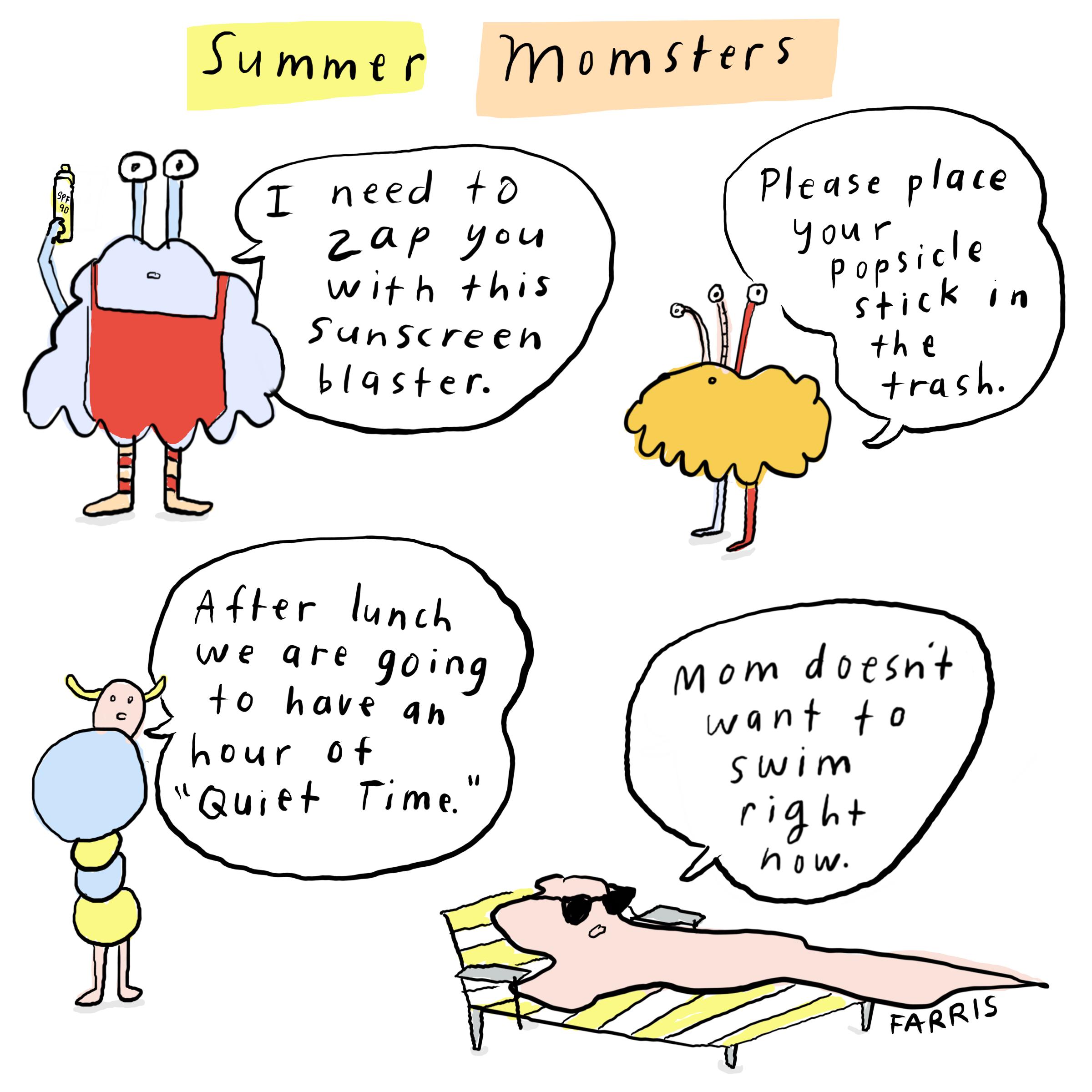 summer comic by grace Farris