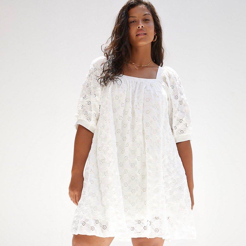Anthropologie white dress