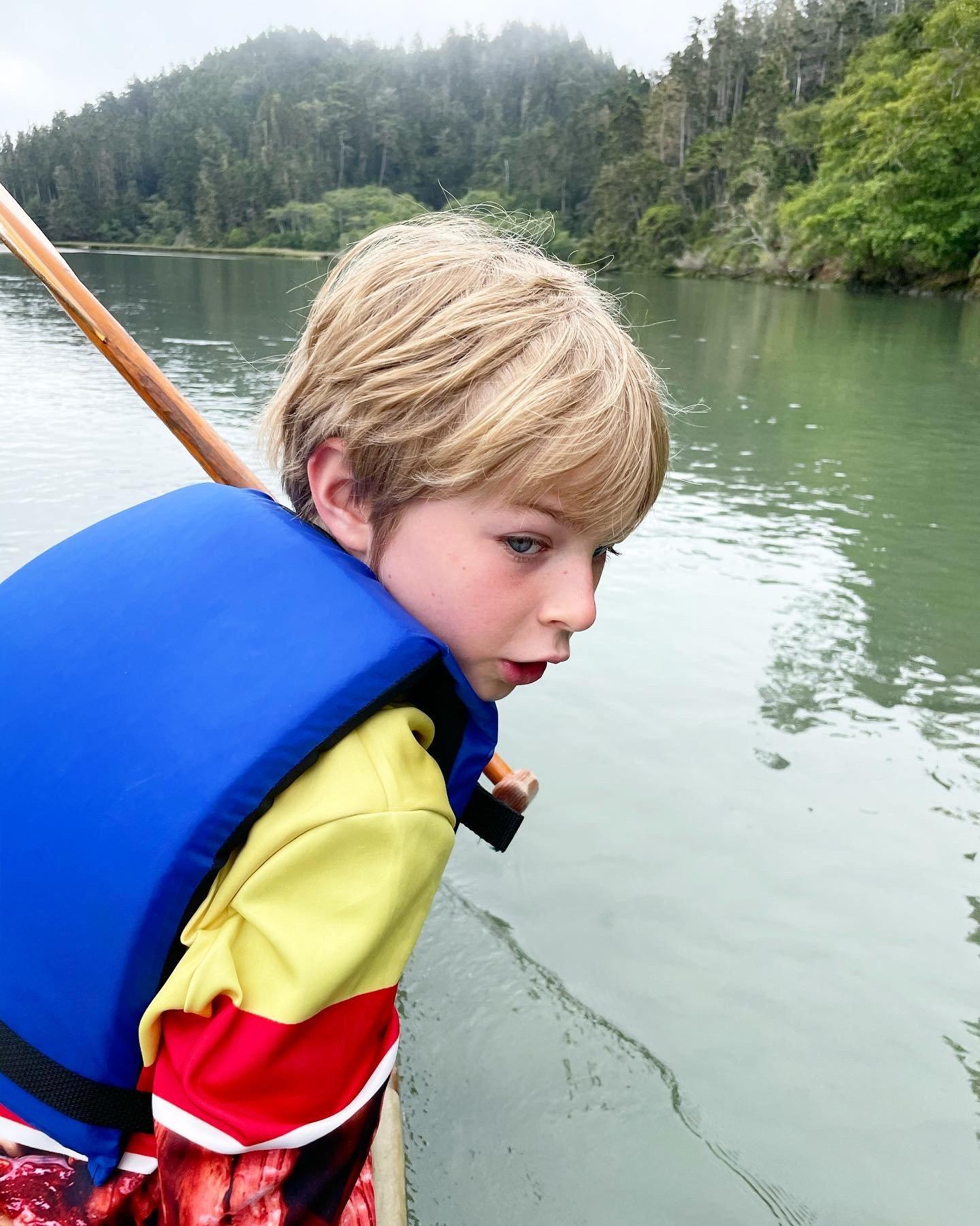 Anton canoeing