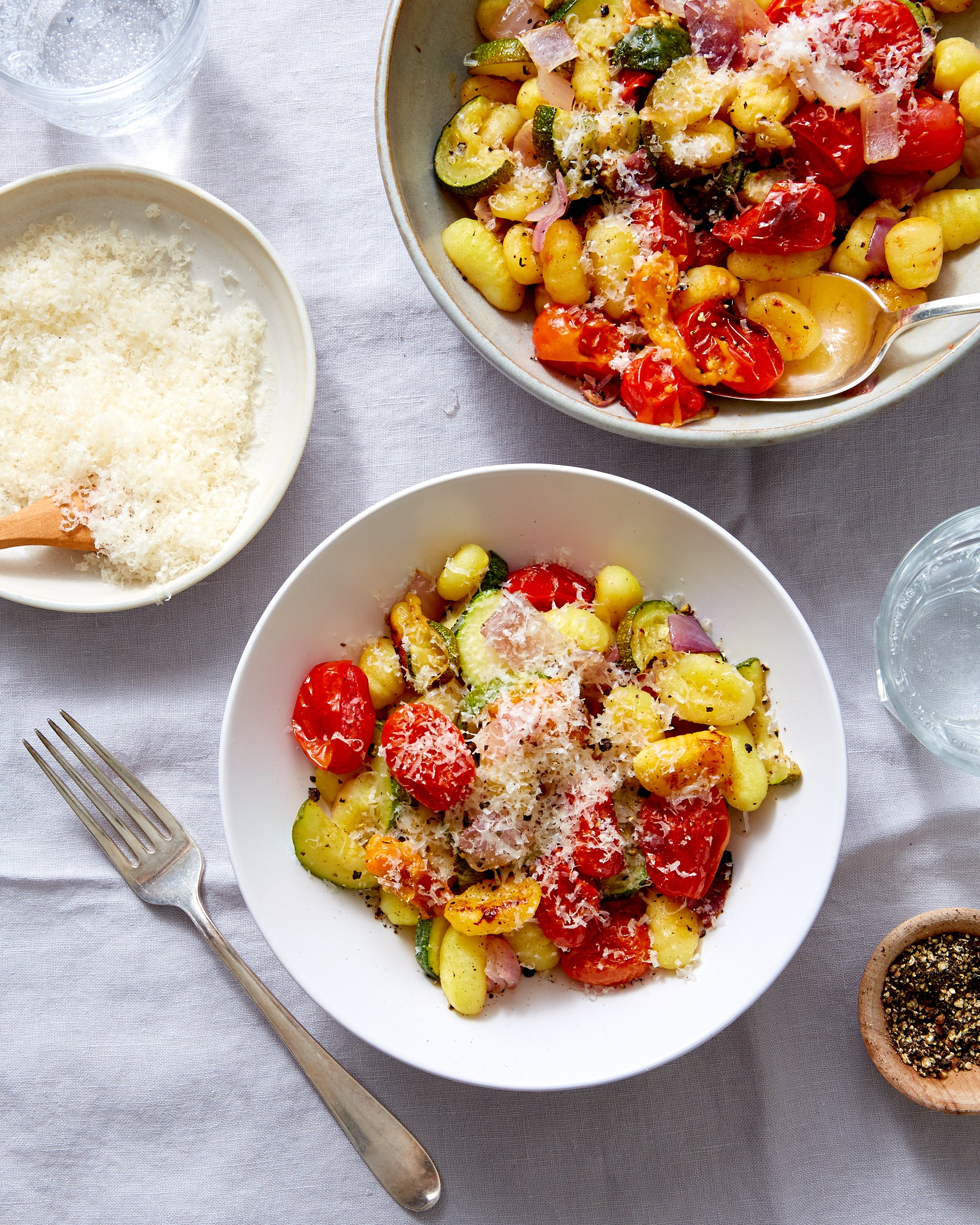 Roast Gnocchi with Tomatoes and Squash