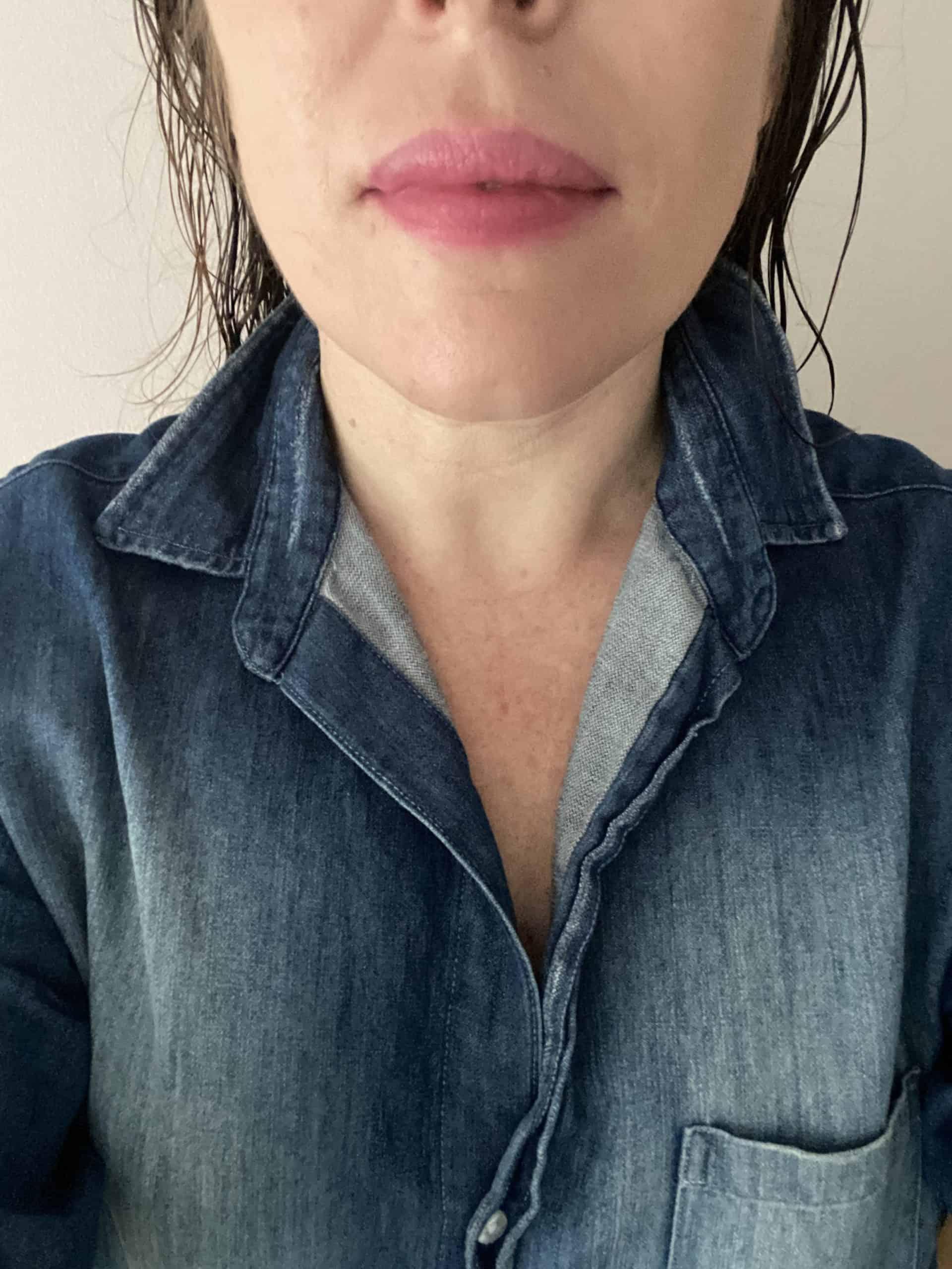 bitten lipstick