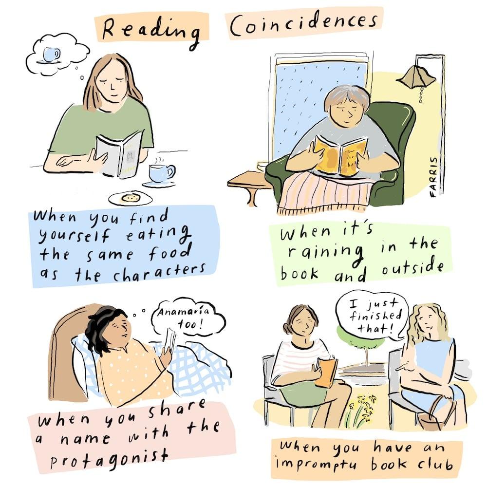 grace farris comic about reading books