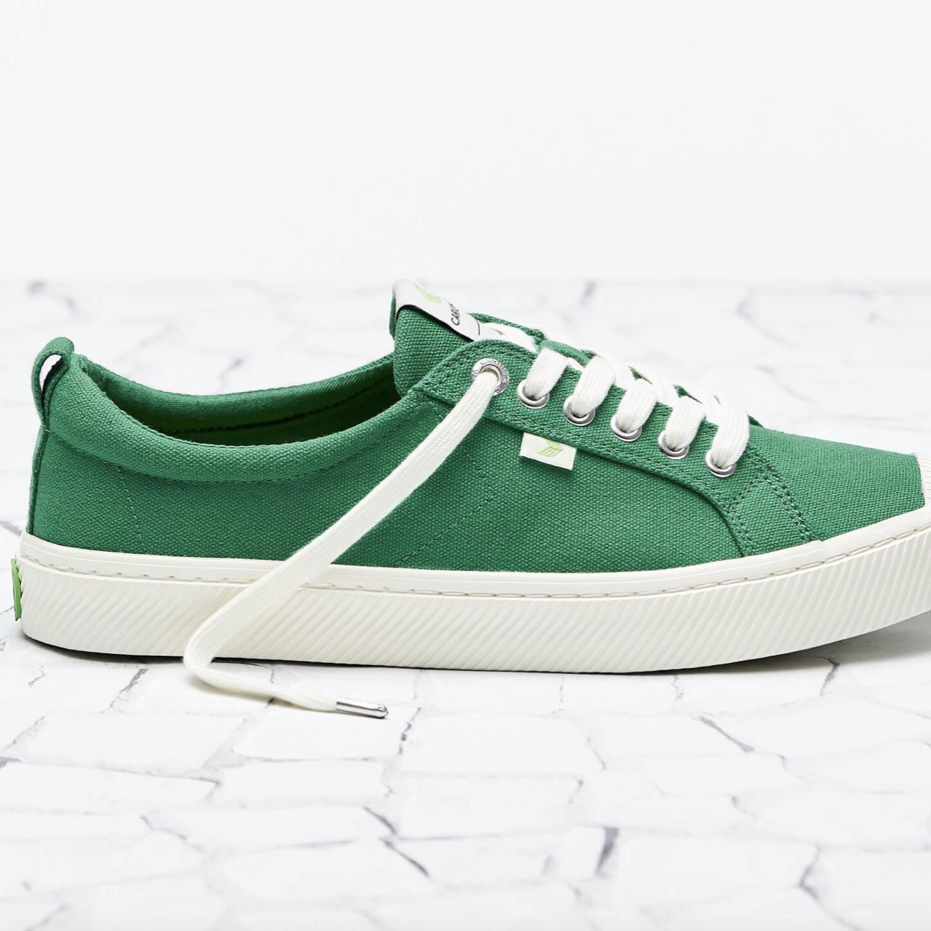 summer uniform green sneakers