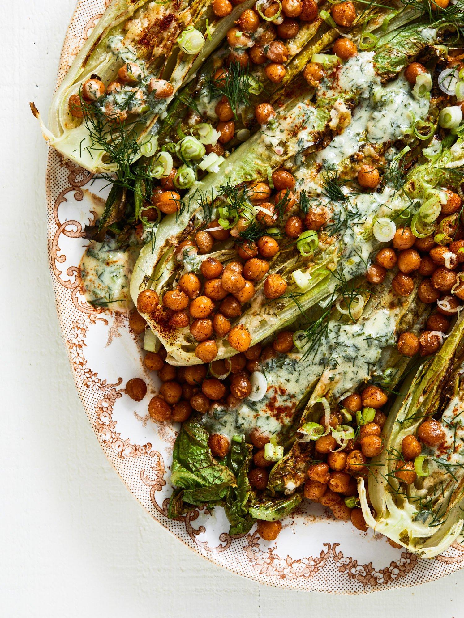 vegetarian Caesar salad from weekday vegetarians cookbook