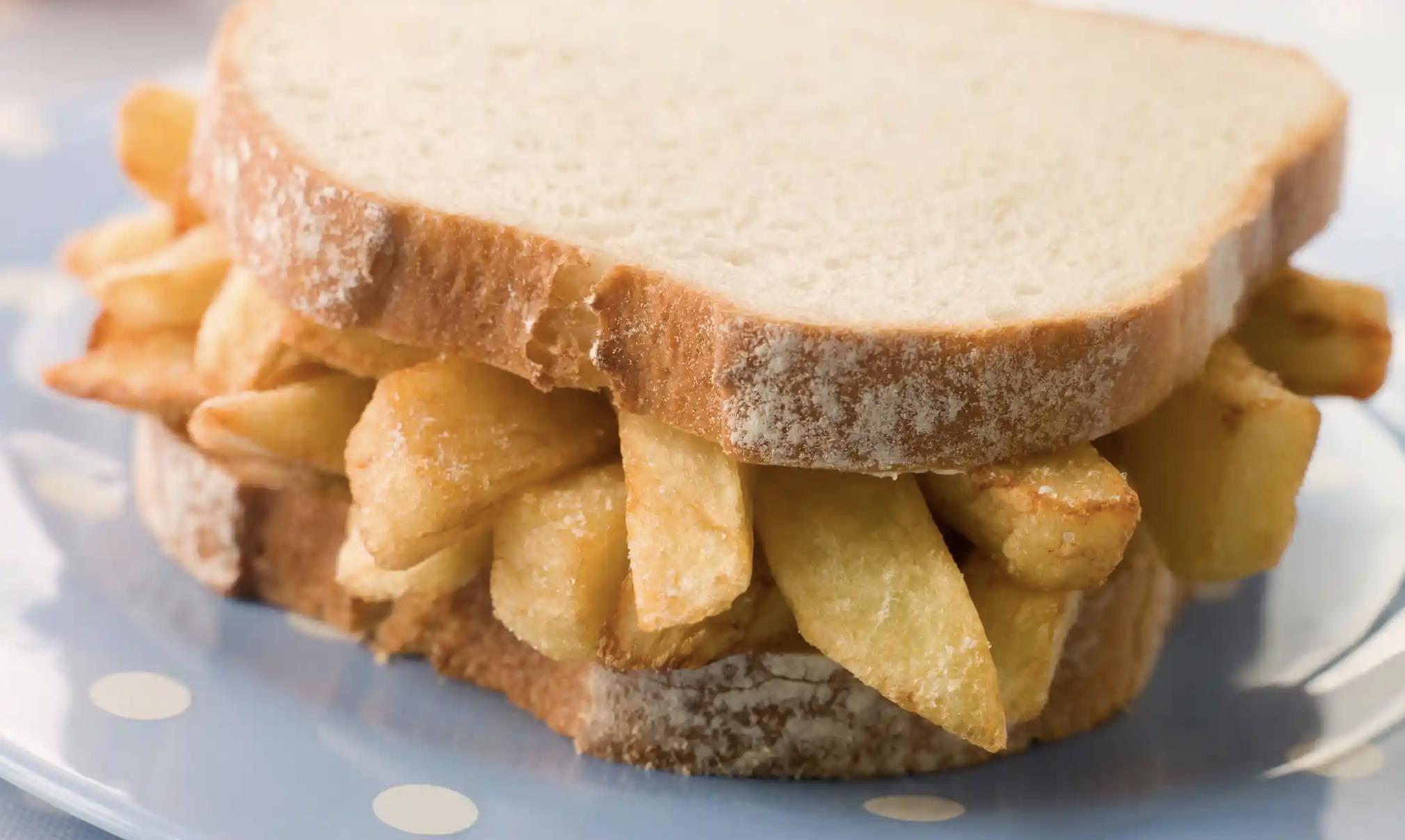 chip butty sandwich