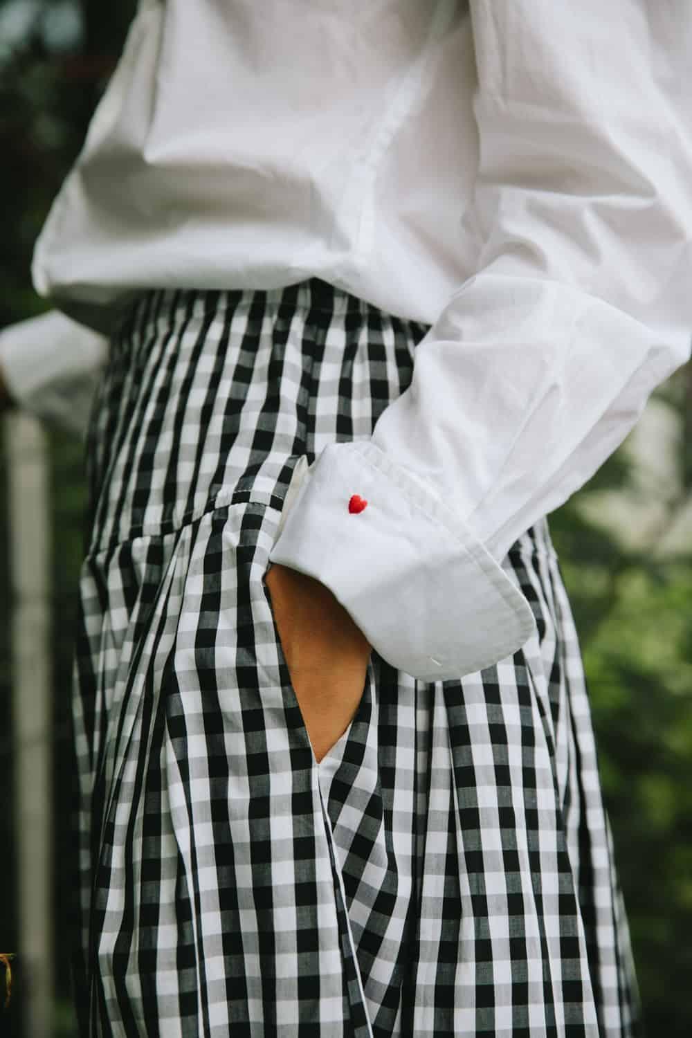 Cup of Jo x Alex Mill heart-on-your-sleeve shirt