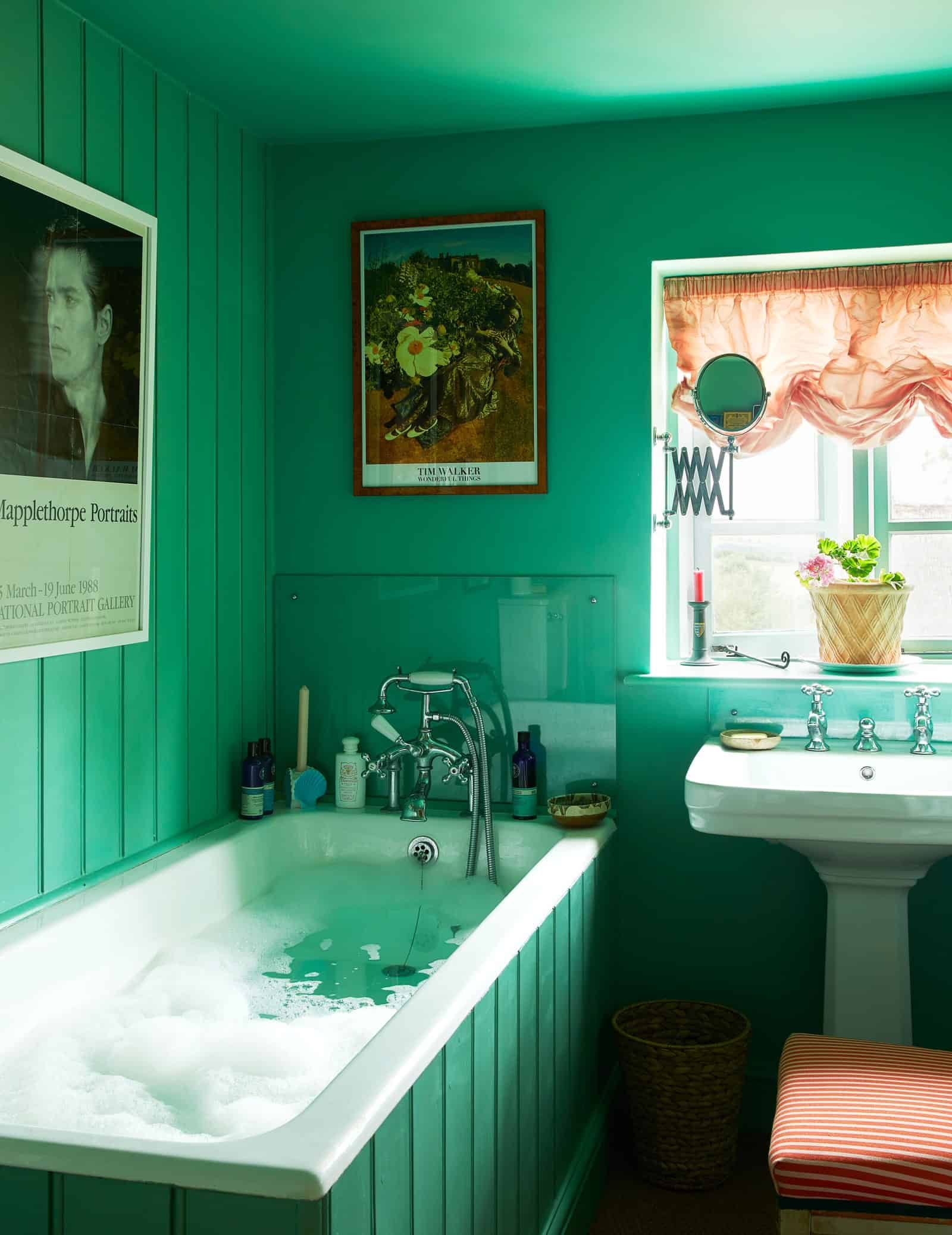 green bathroom Luke Edward Hall