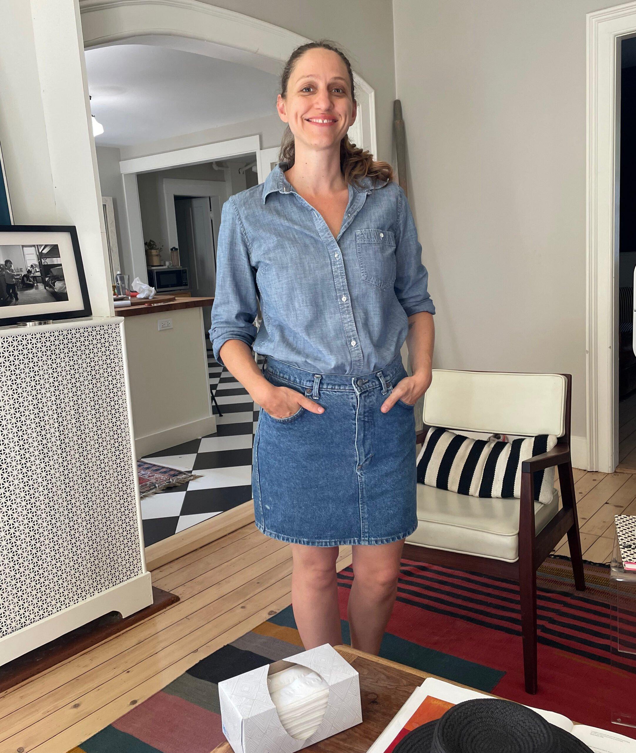 jean skirt sharon Beesley