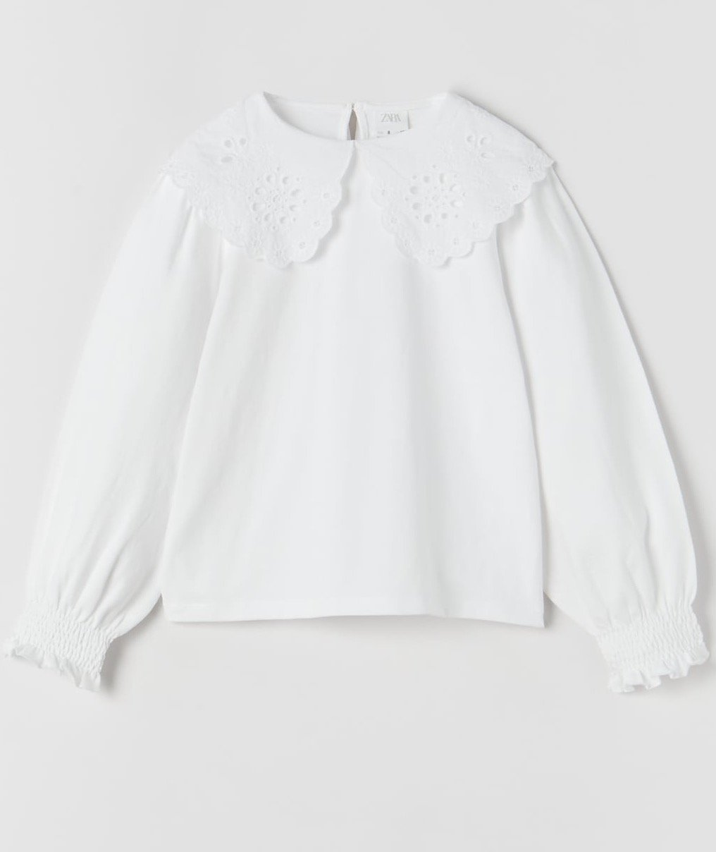 Zara white shirt girls