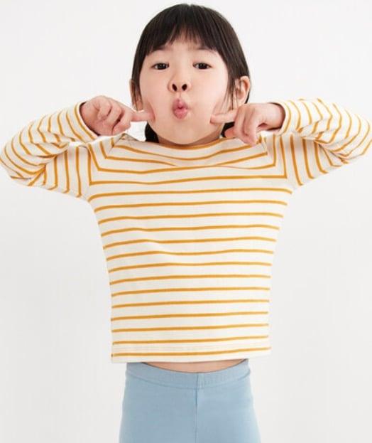 yellow striped shirt girls