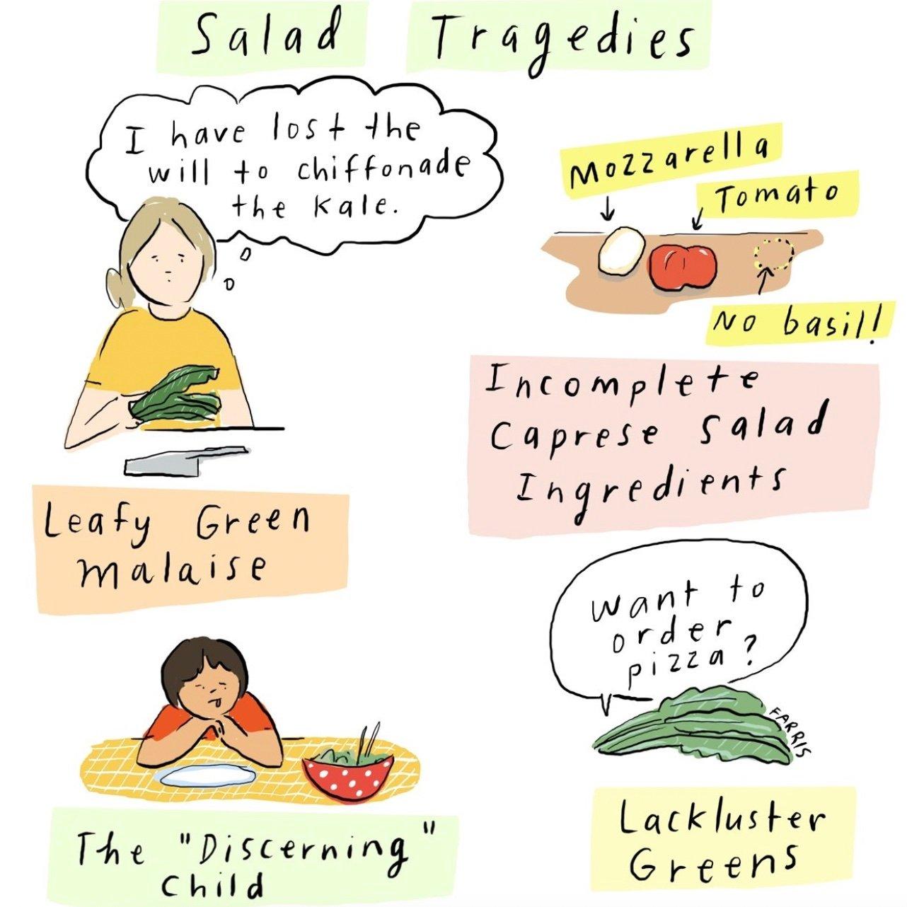 grace Farris salad comic